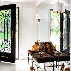 Wrought Iron Kitchen Sets Cool Pendant Lights Floor To Ceiling Foyer Mirror - Transitional Entrance ...