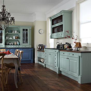 Duck Egg Blue Paint Colors Transitional Kitchen