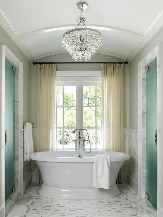 Girl Bedroom Wallpaper Border Barrel Ceiling Bathroom Traditional Bathroom