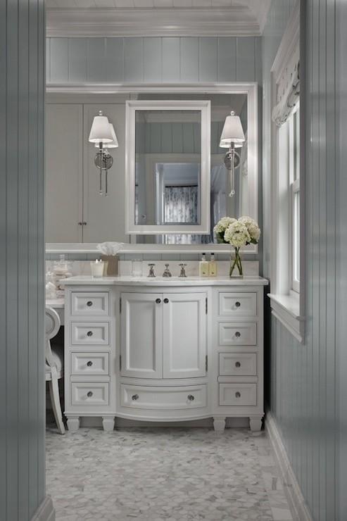 Gray Beadboard  Traditional  bathroom  Cottage Company Interiors