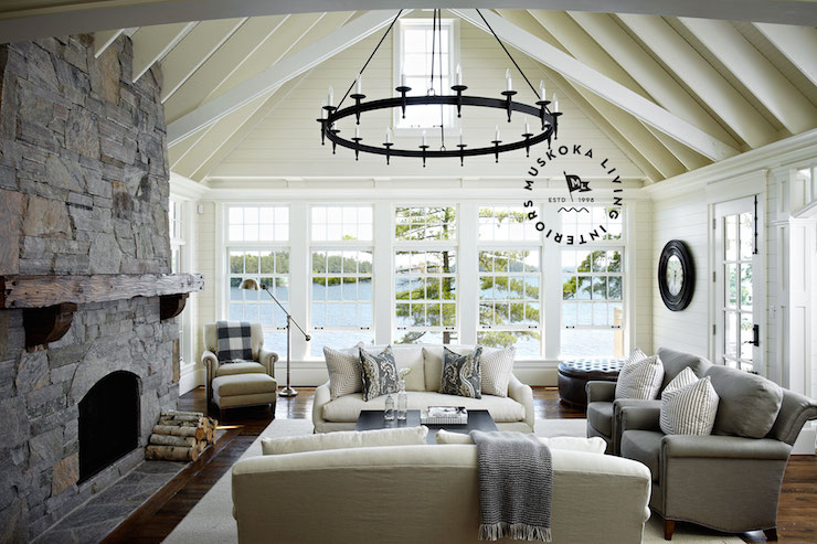 Lake House Ideas Cottage Living Room Muskoka Living