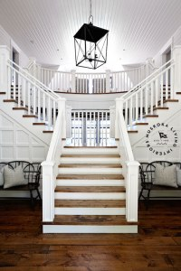 Double Sided Staircase - Cottage - entrance/foyer ...