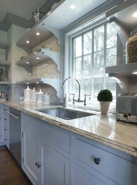 Shelf in Front of Window  Contemporary  kitchens  BC