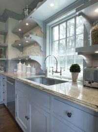 Stacked Kitchen Shelves - Transitional - kitchen - Brooks ...
