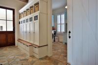 Chalkboard Locker Cabinets - Transitional - laundry room ...