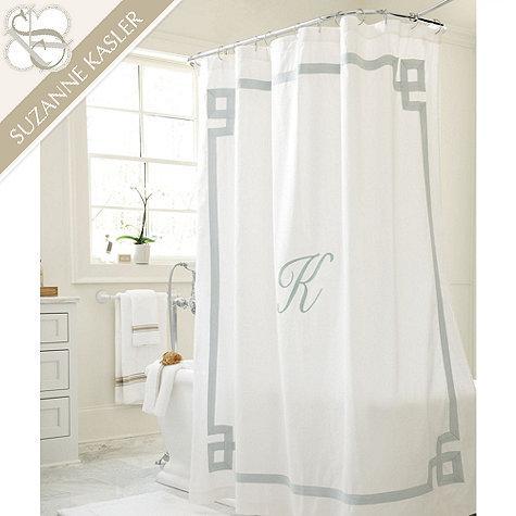 Newport Monogrammed Shower Curtain Neiman Marcus