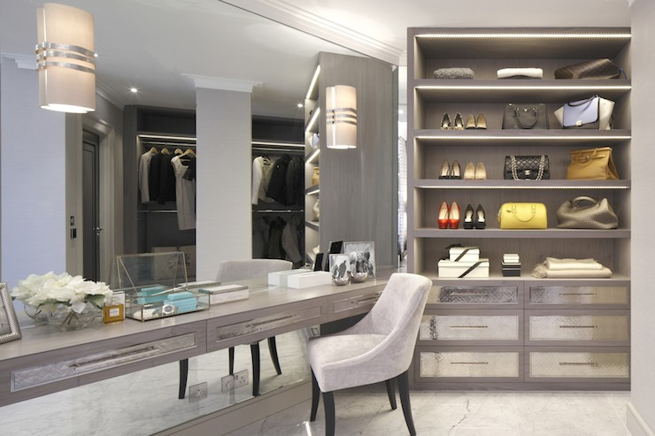 Built In Dressing Table  Contemporary  Closet