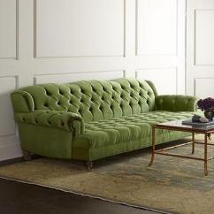 Settee Living Room Designs With Hardwood Floors Jadelyn Grey Green Tufted Sofa