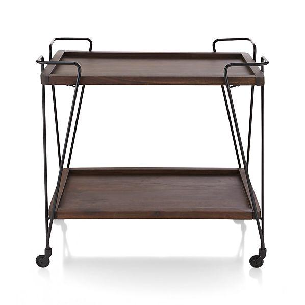 Metal Rolling Cart Bedside Table