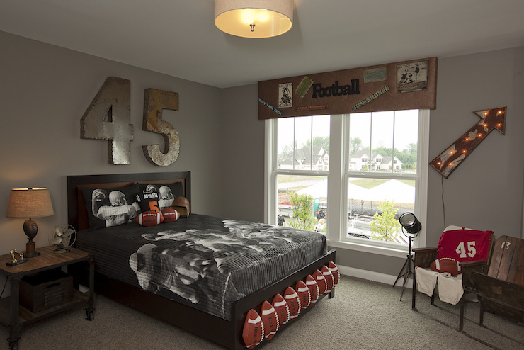 Football Themed Kids Room  Eclectic  boys room  BIA