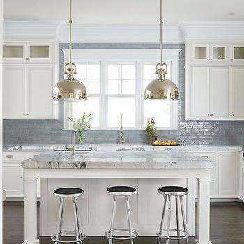 Grey Subway Tiles  Contemporary  kitchen  Martha OHara