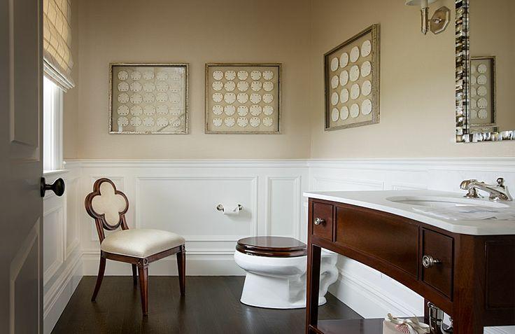 Wainscoting Powder Room  Cottage  bathroom  Mark