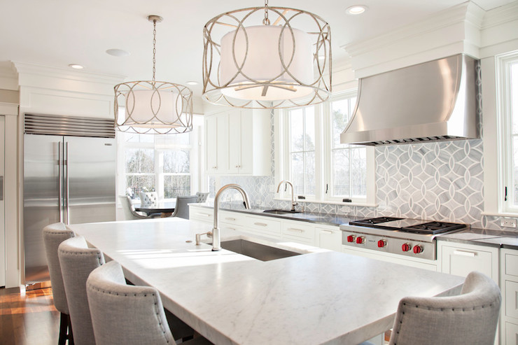 White and Gray Kitchens  Transitional  kitchen  New