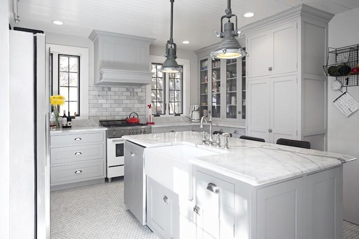 Gray Kitchen Ideas Transitional Kitchen New England Design Works