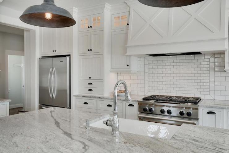 Super White Granite Counters  Transitional  kitchen