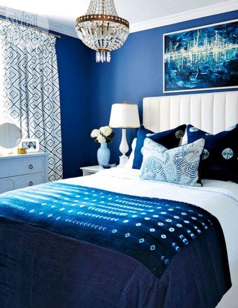 indigo navy blue bedroom Indigo Blue Bedrooms - Contemporary - bedroom - Style at Home