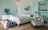 Tiffany Blue Bedroom - Contemporary - bedroom - Martha ...