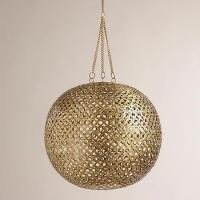 Brass Disc Hanging Pendant Lamp