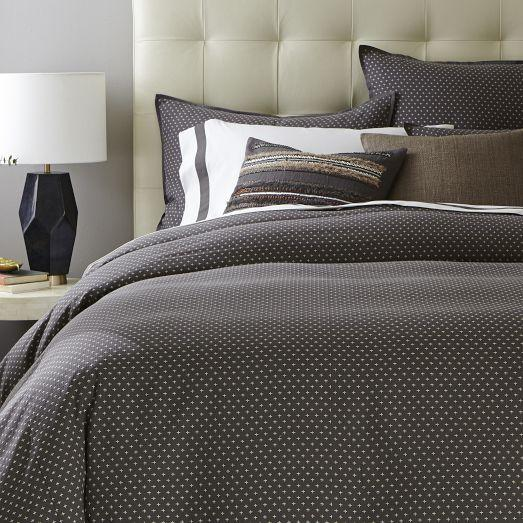 Star Geo Grey Duvet Cover and Shams