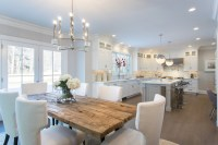 Reclaimed Wood Top Dining Table - Transitional - kitchen ...