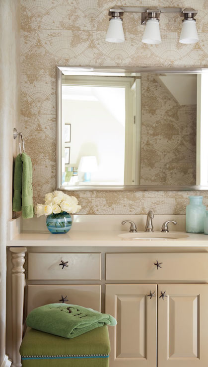 White and Taupe Bathrooms  Transitional  bathroom