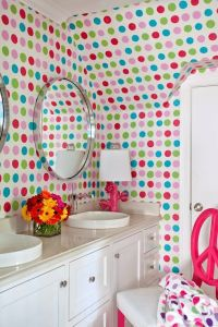 Hand Painted Polka Dot Walls - Contemporary - bathroom ...