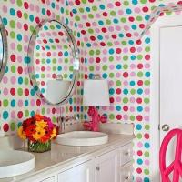 Kids Room with Flowers on Walls - Eclectic - Girl's Room