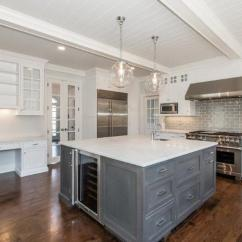 Square Kitchen Island Cheap Cabinets Michigan Transitional Jillian Klaff Homes