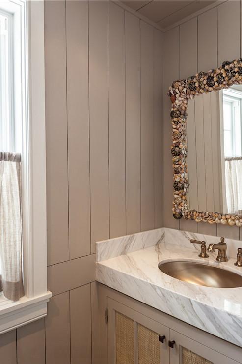 Seashell Mirror  Cottage  bathroom  Benjamin Moore