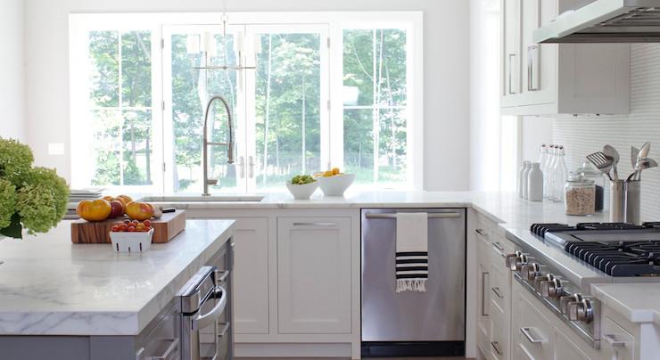 Corner Dishwasher Transitional Kitchen Milton Development