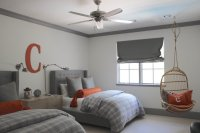 Gray and Orange Bedrooms - Transitional - boy's room ...