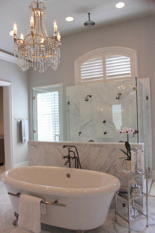 Bathtub with Towel Bar  Transitional  bathroom  Talbot