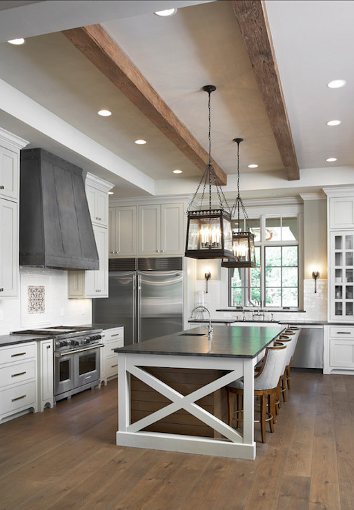 Mystic Gray Granite Countertops Transitional Kitchen Sherwin Williams Canvas Tan