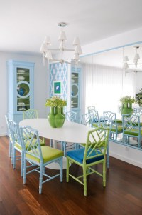 Turquoise Bamboo Chairs - Contemporary - dining room ...