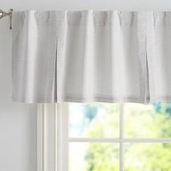 Living Room Window Valances Furniture Bench Evelyn Linen Grey Valance