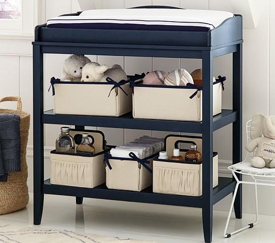 pottery barn living rooms paint colors room brown leather furniture emerson grey blue changing table