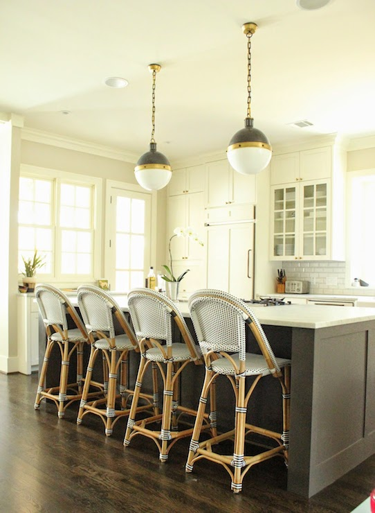 Bistro Counter Stools  Transitional  kitchen  Belmont