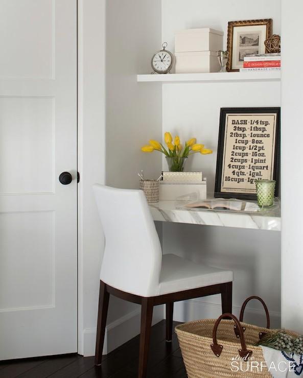 Kitchen Desk Under Open Shelf  Contemporary  Kitchen