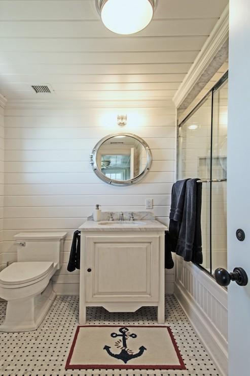 Nautical Bathrooms  Transitional  bathroom  Hamptons