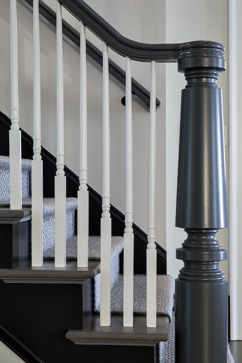Gray Handrail  Contemporary  entrancefoyer  Jane Goetz