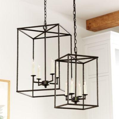 Hadley 4 Light Black Pendant Chandelier