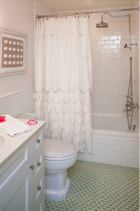 scalloped shower curtain cottage