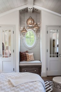 Window Seat Nook - Transitional - bedroom - Norman Design ...