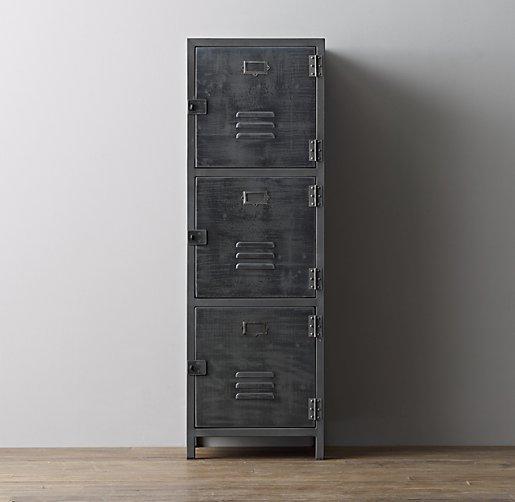 Vintage Locker 4Door Grey Cabinet