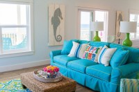 Turquoise Sofa - Cottage - living room - Wendy Patrick Designs