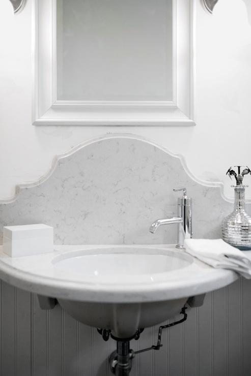 Half Moon Sink  Transitional  bathroom  Lukas Machnik Design