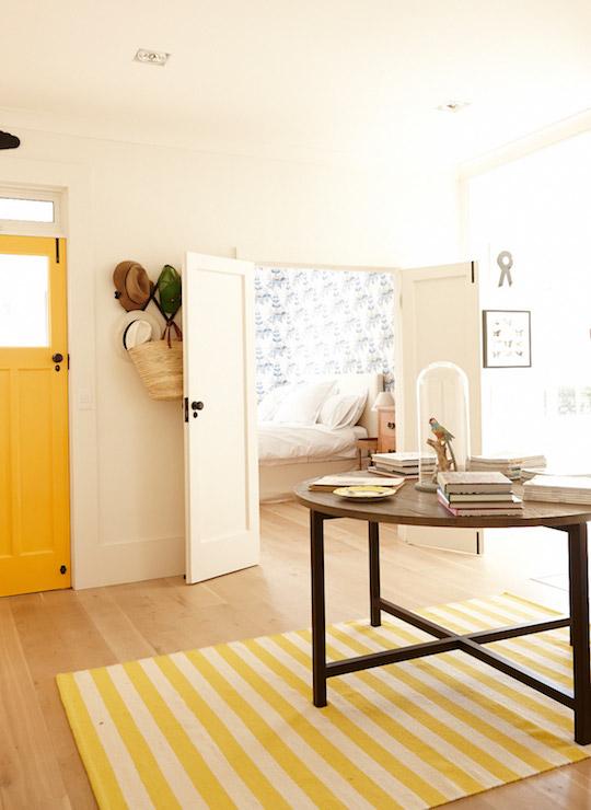 Yellow Door  Eclectic  entrancefoyer  ICI Dulux Gold