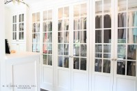 Glass Front Closet Doors - Transitional - closet - M. E ...