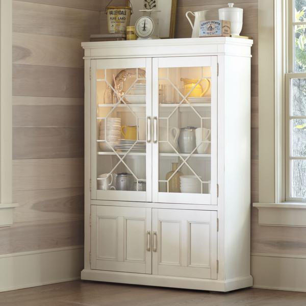 French Casement Grey 4Door Cabinet