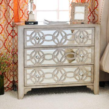 Libby Silver Mirrored 3Drawer Chest  Kirklands